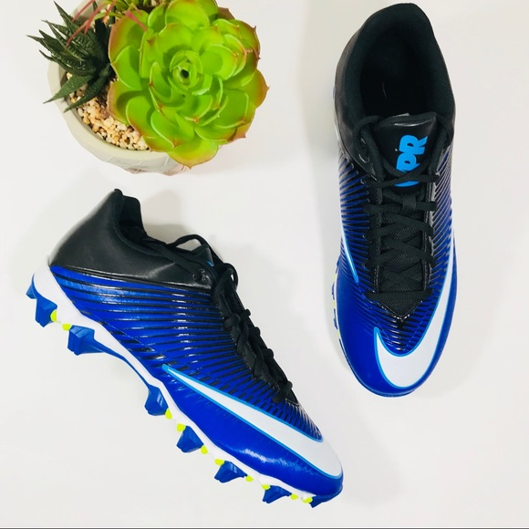 detailed look a5d1b ecbde Nike Vapor Shark 2 black and blue Football cleats